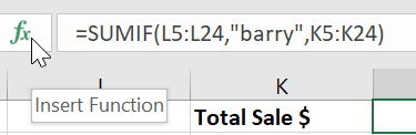 Excel Edit Function