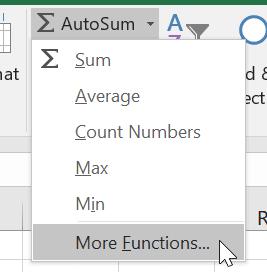 Excel Insert Function