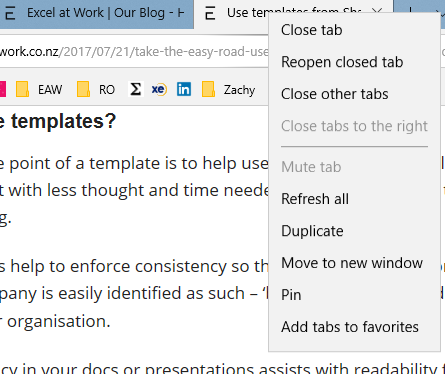 Right mouse click over tab to open menu to select Duplicate
