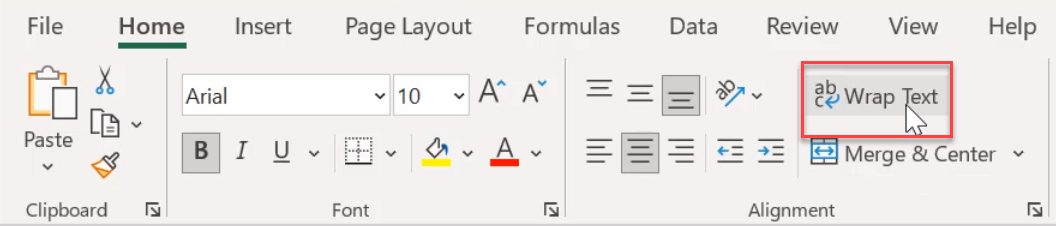 how to enter multiple lines in one cell in excel