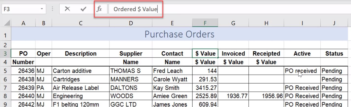 enter multiple lines in one cell excel