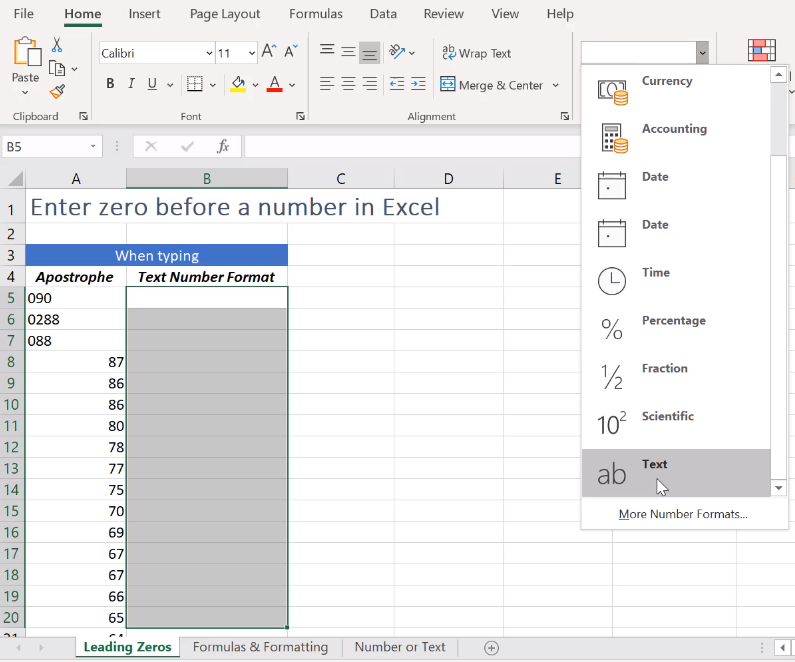 how to add a zero before values