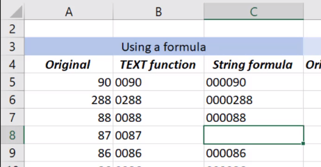 adding a 0 before values