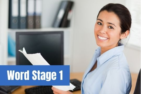Word Stage 1 for Beginners
