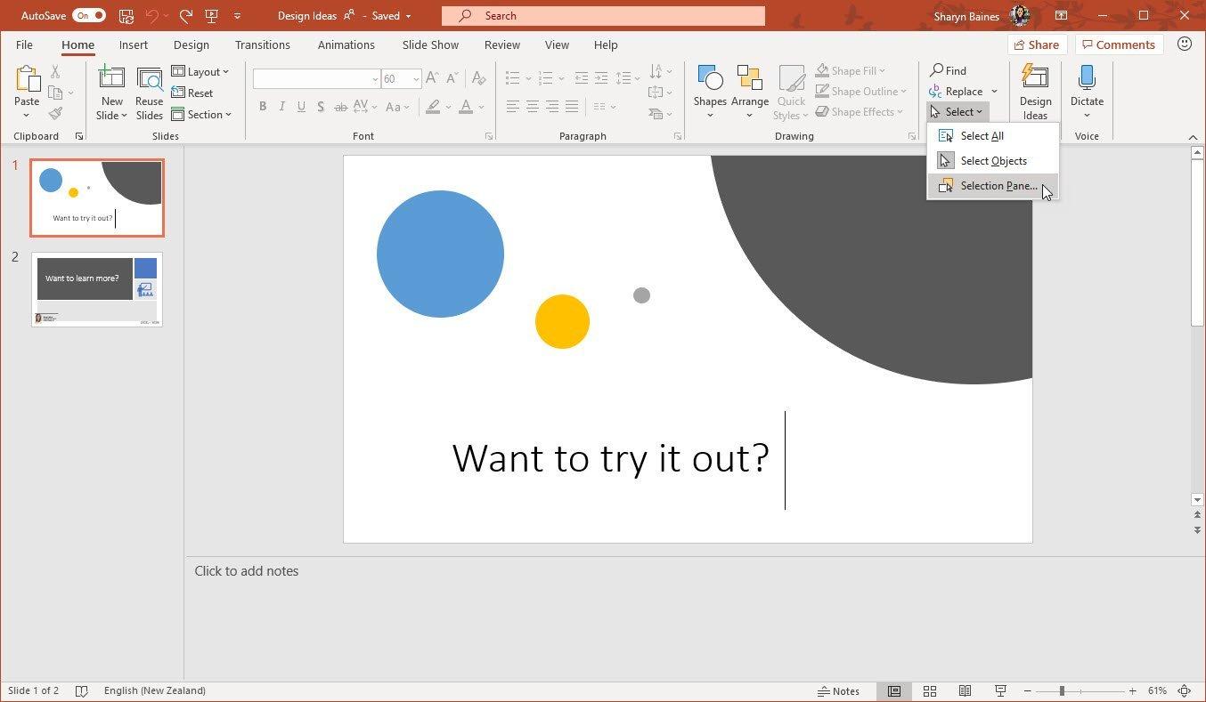 Change Design Ideas Slide