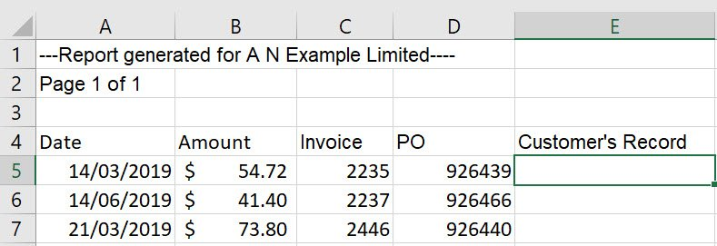 vlookup to compare two columns
