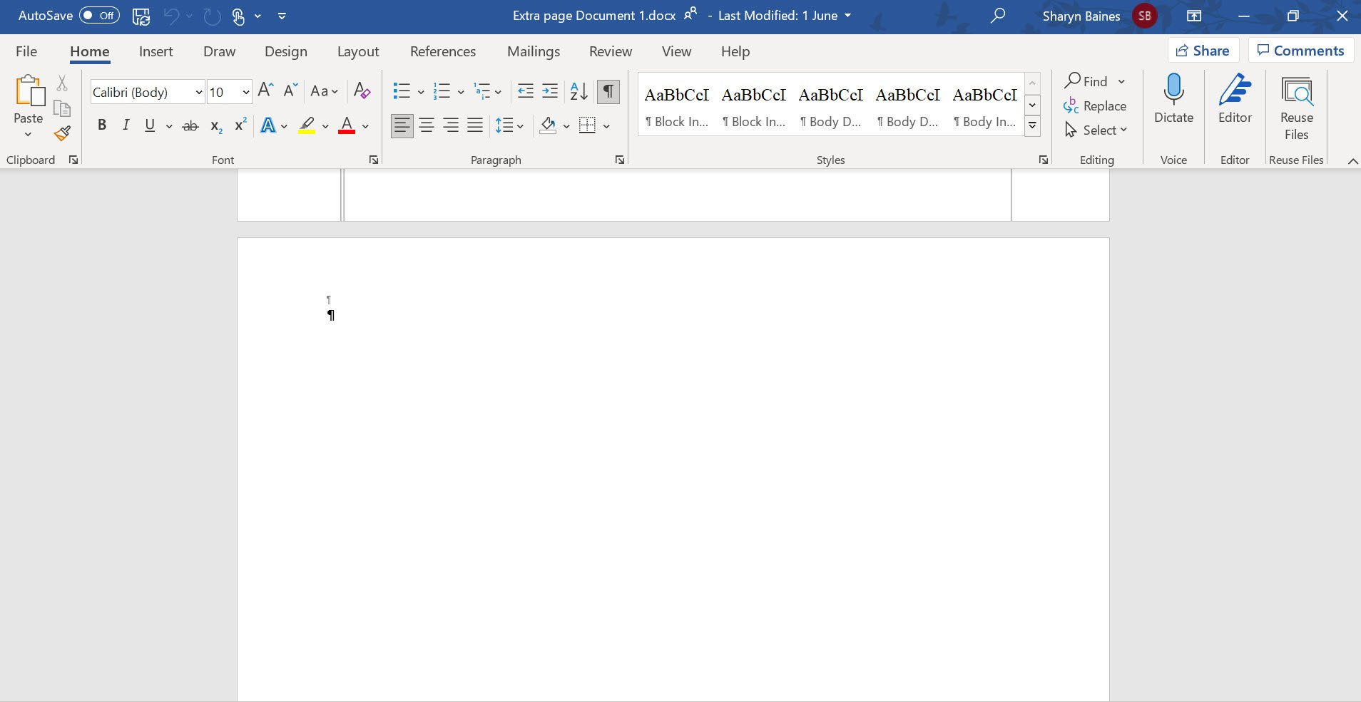 how to remove a section break in word